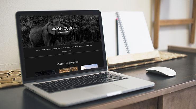 Site Internet Simon Dubois Photographies