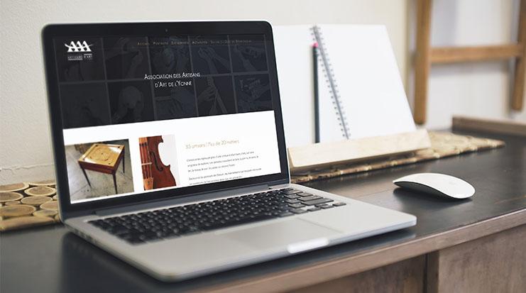 Site Internet Association des Artisans d'Art de l'Yonne